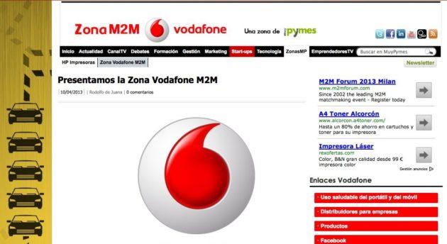 Llega Vodafone M2M, la nueva zona temática de MuyPymes