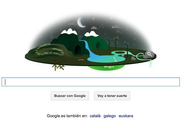 Doodle Google día de la tierra noche