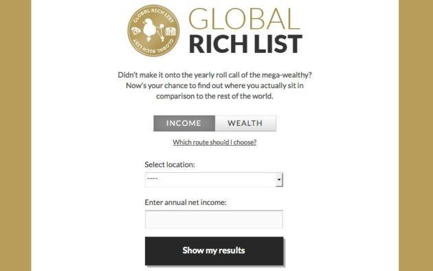 ¿Cómo eres de rico? Una web te dice en qué puesto estás del Mundo 28