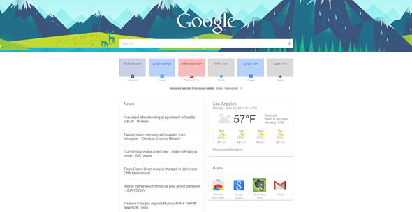 New Tab Page, interfaz similar a Google Now para Chrome 29