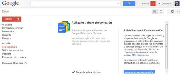 Acceso y sincronización a Google Drive sin conexión 31