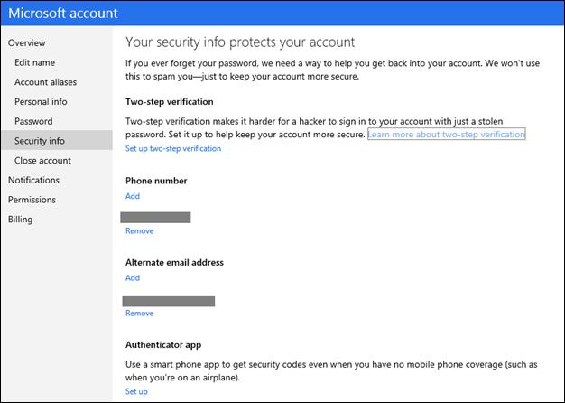 Microsoft implementa la doble autenticación en sus cuentas 27