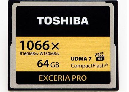 Tarjetas Compact Flash Toshiba listas para vídeo 4K 38