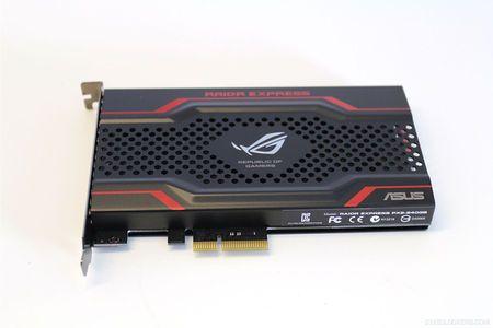 Primeros detalles de ASUS ROG RAIDR Express, SSD PCIe de alto rendimiento 30