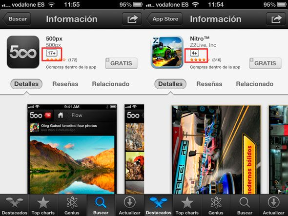 Clasificación por edades App Store 1