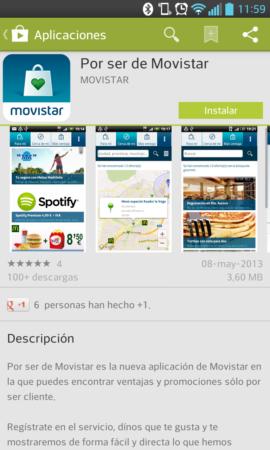 """Descuentos en marcas y servicios """"Por ser de Movistar"""""""