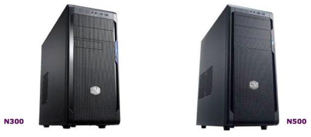 Cooler Master N300 y N500: nuevas, completas y económicas cajas