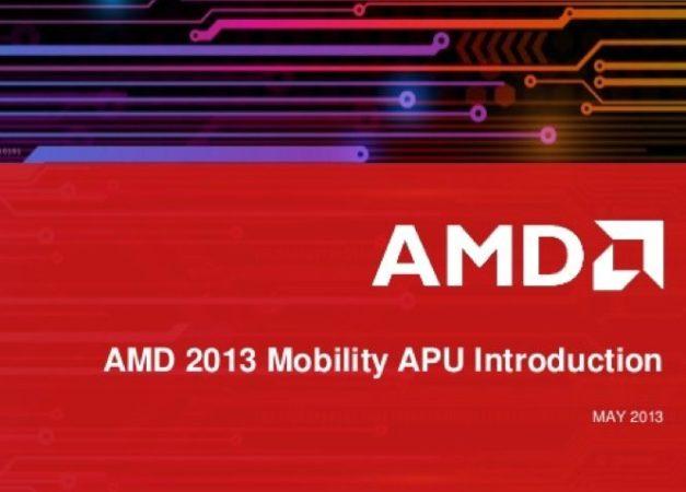 AMD APU Mobility 2013: Temash, richland, kabini