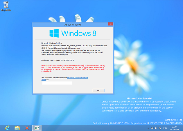 Microsoft comienza a distribuir la Build 9391 de Windows 8.1