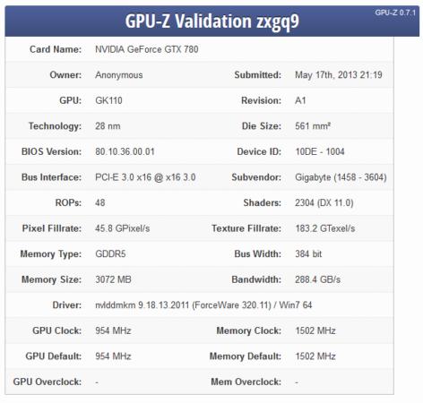 1 1 GPU Z GTX 780