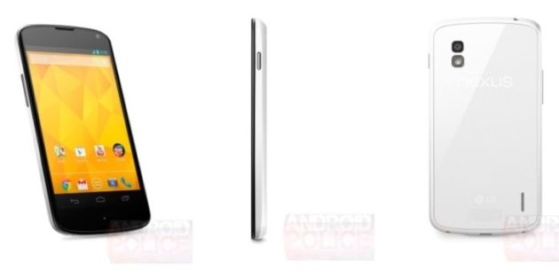 Lanzamiento inminente de Nexus 4 blanco (Imágenes)