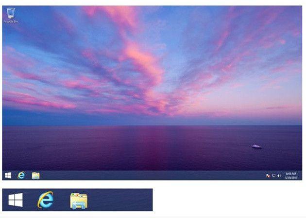Aquí está el nuevo botón de inicio de Windows 8