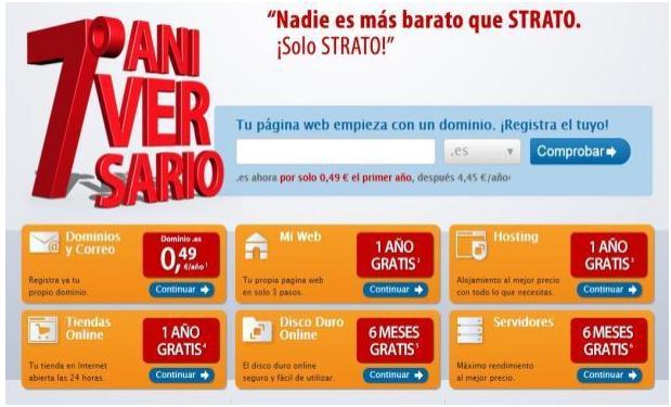 Strato celebra sus 7 años en España con dominios .es a 0,49 euros 29