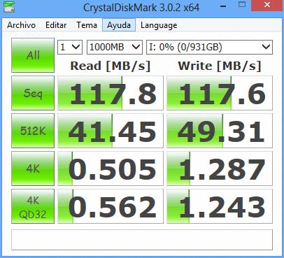 Prueba de velocidad USB 3.0 en Windows
