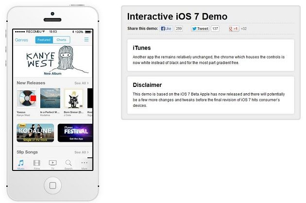 índice ios 7 apps demo