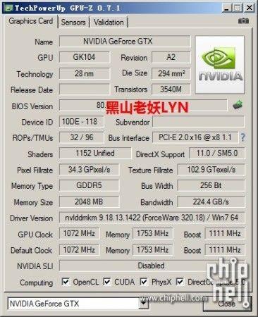 pantallazo GPU-Z GTX 760