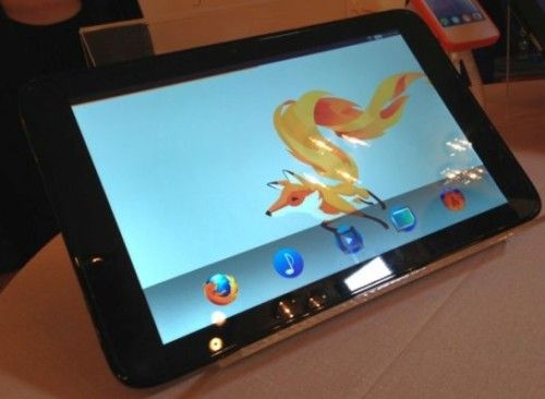 Mozilla y Foxconn exhiben tablet Firefox OS