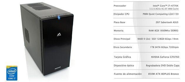 Mountain actualiza su gama de sobremesa con CPUs Haswell