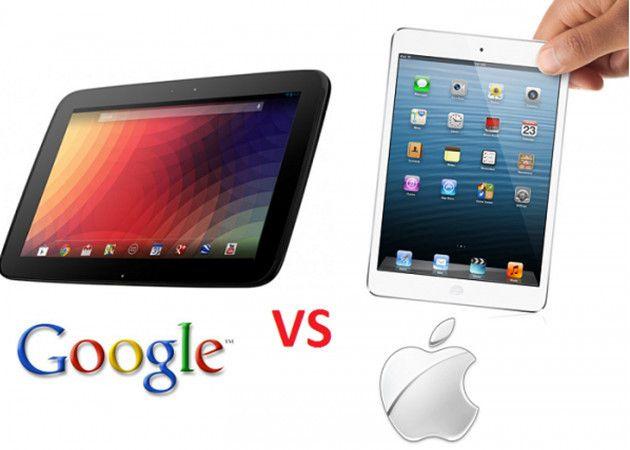 Google 'fulmina' a Apple también en tablets