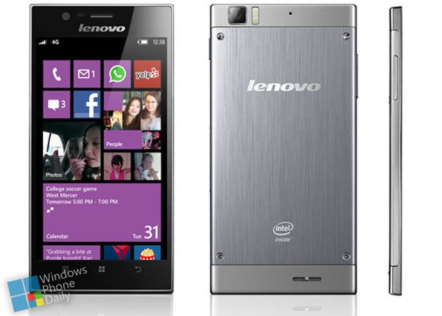 Lenovo desarrolla superphone con Windows Phone 8