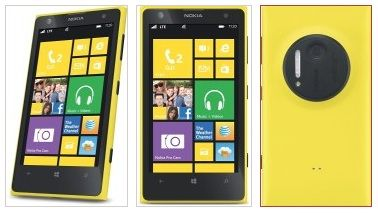 3x Lumia 1020 amarillo
