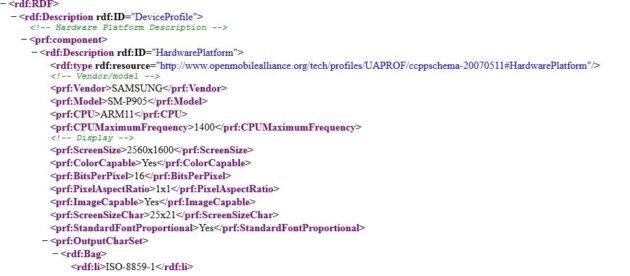 galaxy tab 3 filtrada código html 11