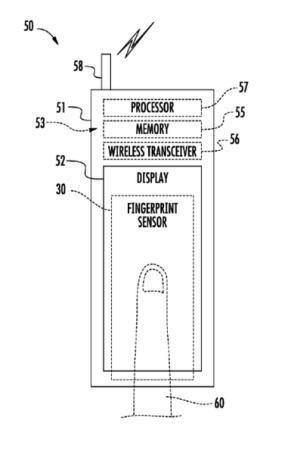 3312x lector de huellas iphone 5s patente 1x