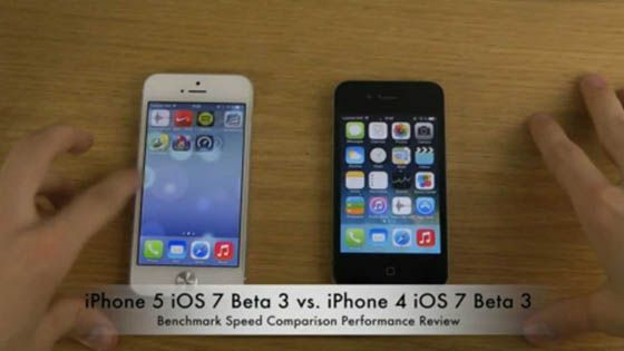 iOS 7 Beta sobre iPhone 5 y iPhone 4: Test Benchmark