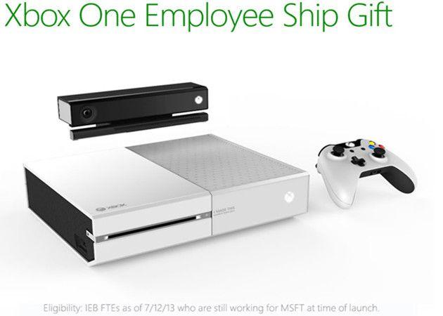 Xbox One blanca gratis para empleados de Microsoft
