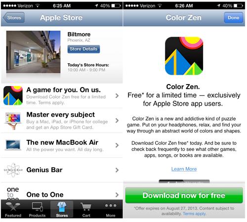 Las Apple Store empiezan a regalar contenidos de pago vía app
