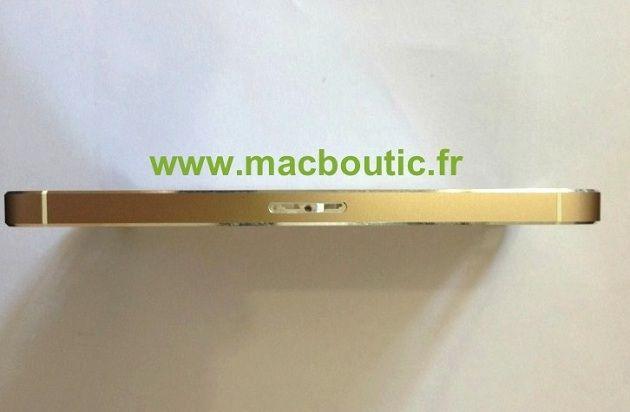 Una carcasa de iPhone 5S con aires dorados asoma en Francia