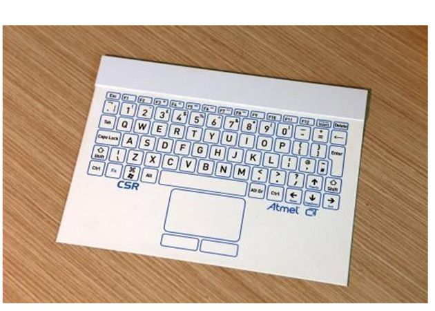 El teclado inalámbrico más delgado del mundo mide 0,5 mm