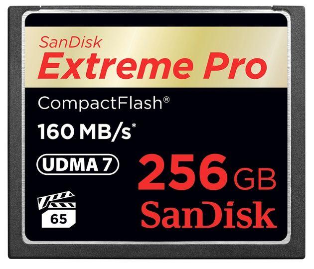 SanDisk presenta la Extreme Pro CompactFlash de 256 GB