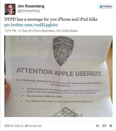 actualizar a ios 7 nueva york policía mc233