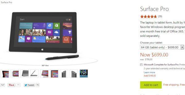 Microsoft vuelve a bajar el precio de Surface Pro