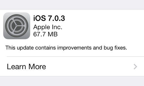 disponible ios 7.0.3 portada MC 32nm31xx3