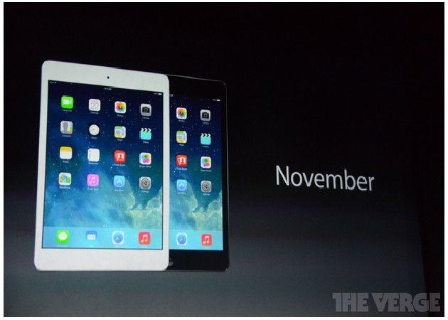 Llega la segunda versión del iPad mini con pantalla Retina