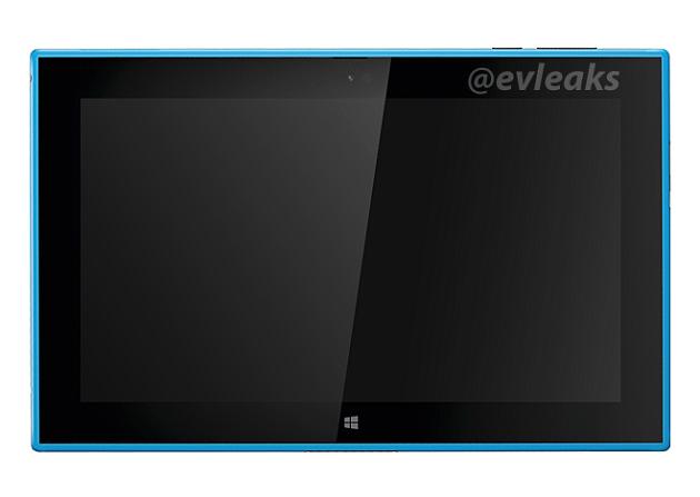 Nokia Lumia 2520 asoma en color cian, especificaciones