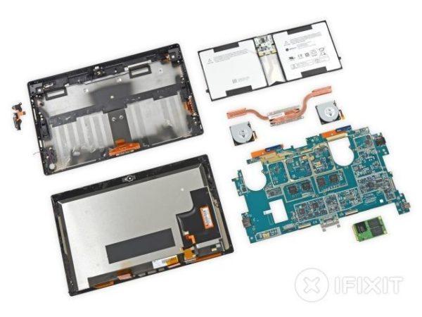 Surface Pro 2 desmontada por la gente iFixit, es difícil de reparar