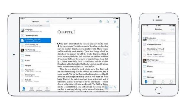 Dropbox 3.0 adapta su diseño a iOS 7 y soporta AirDrop