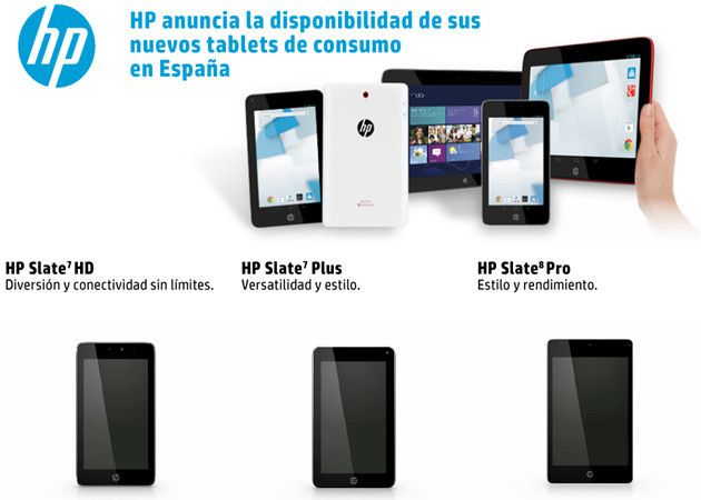 Nuevos tablets de consumo HP en España con disponibilidad inmediata