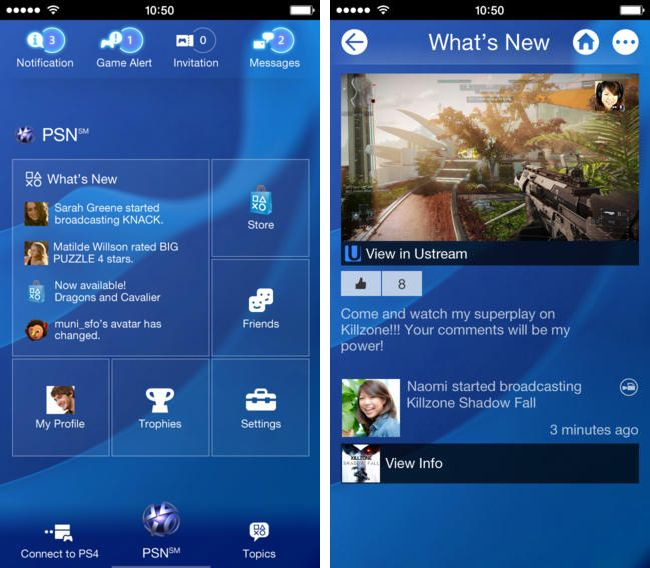 "Sony lanza ""PlayStation App"" para iOS y Android"