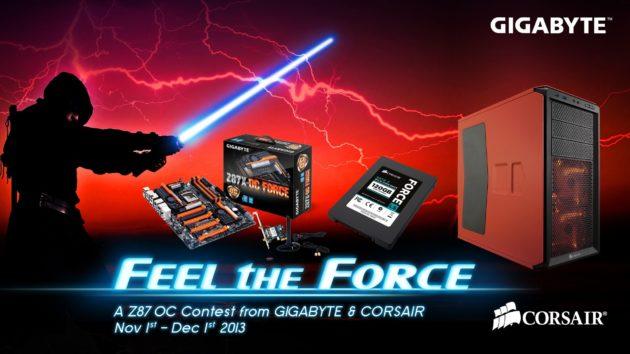 GIGABYTE abre el concurso de OC con Z87 Feel the Force