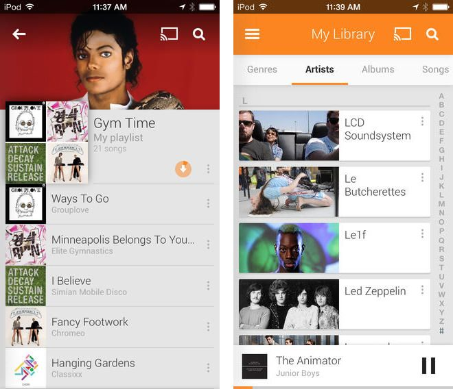 Google Play Music ya está disponible para iOS