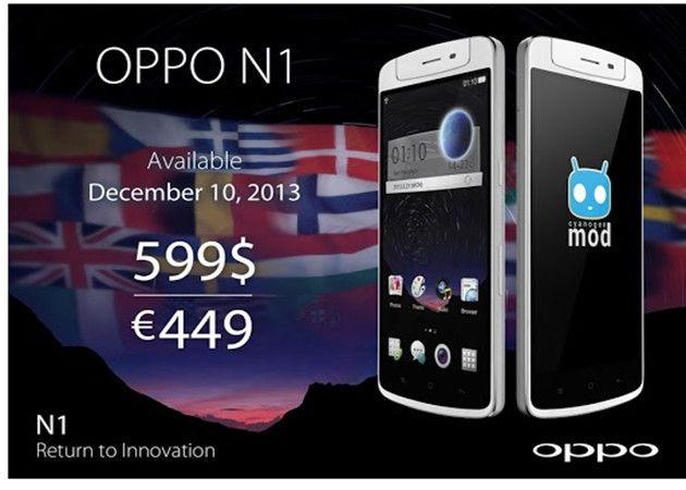 OPPO N1, lanzamiento internacional el 10 de diciembre