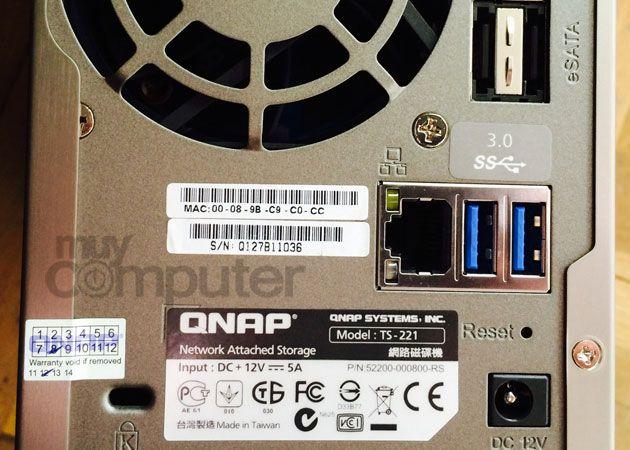 QNAP TS-221 conexiones