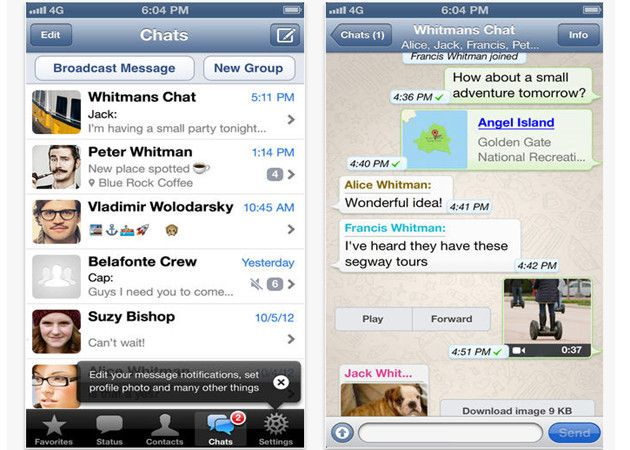 WhatsApp para iOS 7, disponible