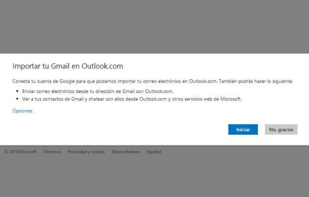 importar gmail