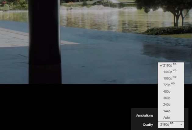 Youtube añade la opción de resolución 4K de forma automática