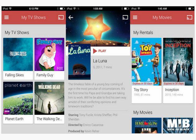 Google Play Movies y TV llega a iOS